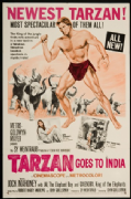 Vintage Travel Poster, Tarzan goes to India